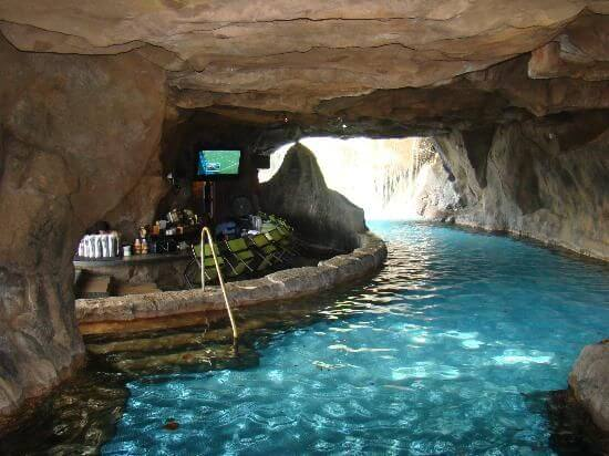 Swim Up Bar Accessed By Passing Under A Waterfall. Many Other Types Of Pool  Grottos ...